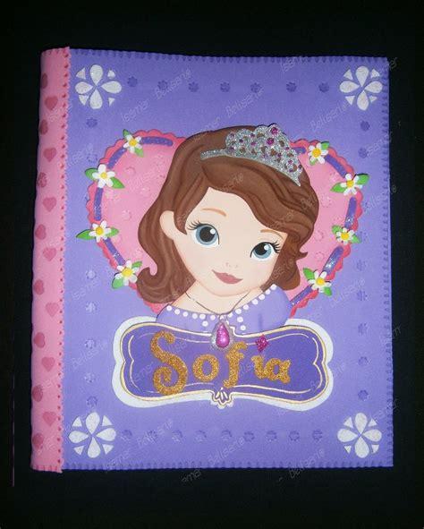 carpetas decoradas en foami princesa sofia ni 241 as disney bs 1 800 000 00 en mercado libre