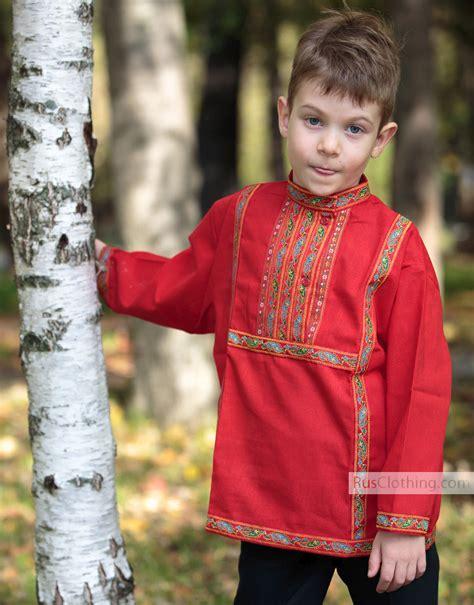 Boys cotton Russian shirt | RusClothing.com