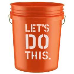 Home Depot Orange Bucket