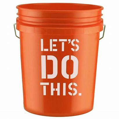 Depot Bucket Workshop Gallon Diy Orange Rustic