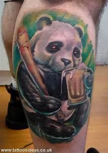 Panda with beer tattoo what is this haha Panda tattoos Pinterest Tatuajes y Libros