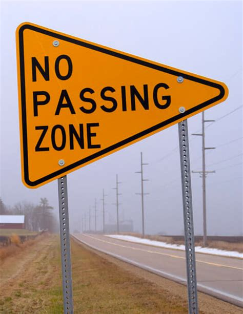 No Passing Zone Sign: What Does it Mean?