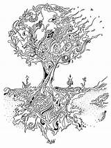 Tree Pages Banyan Colouring Coloring Pine Printable Google Getcolorings Clipart sketch template