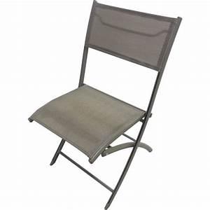 Chaise De Jardin Aluminium : chaise pliante de jardin aluminium capuccino achat vente fauteuil jardin chaise pliante alu ~ Teatrodelosmanantiales.com Idées de Décoration