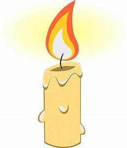 Bright candle vector illustration with realistic cartoon