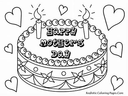 Coloring Pages Mothers Mother Printable Happy Sheets