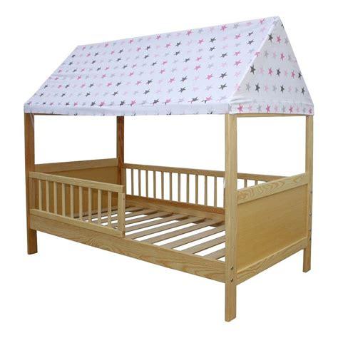 Kinderbett Mit Dach kinderbett juniorbett haus 160 x 70 cm mit dach in