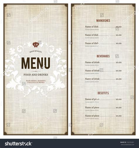 restaurant menu design stock vector  shutterstock