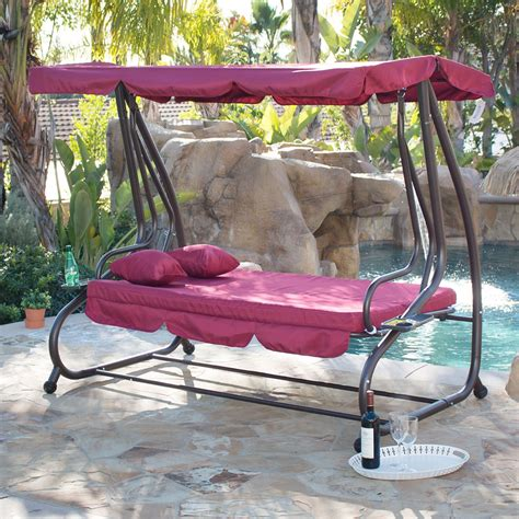 outdoor canopy swing bed patio deck garden porch seat