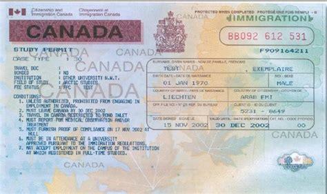 liste des documents pour un permis d 233 tude pour le canada tunisie visa