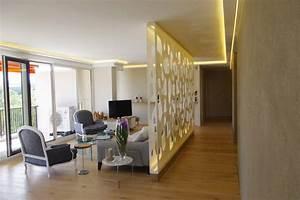 habillage bois mur salle de bain mzaolcom With salle de bain design avec tole perforée décorative sur mesure