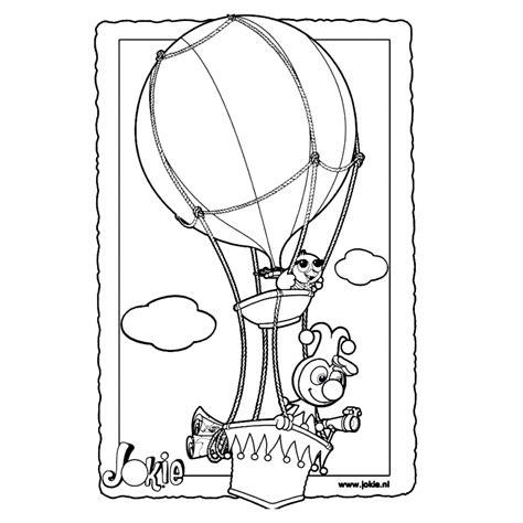 Kleurplaat Jokie En Jet Verjaardag by Leuk Voor Jokie En Jet In Luchtballon