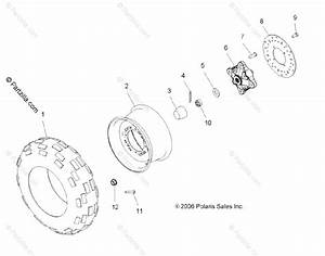 Polaris Atv 2007 Oem Parts Diagram For Wheel  Front