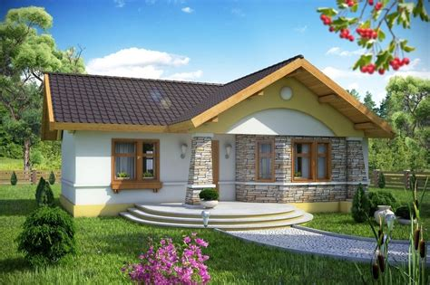 House Floor Designed For 2 3 Person Family Bungalow