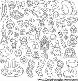 Coloring Christmas Pages Adults Collage Adult Printable Print Colorpagesformom Christmas15 Coloringpages sketch template