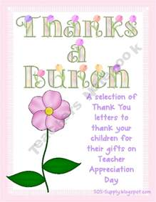 Teacher Appreciation Thank You Note