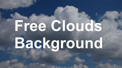 Moving Clouds Background HD Blue Sky with clouds Wolken