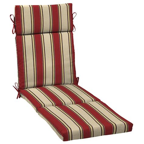 hton bay wide chili stripe outdoor chaise lounge