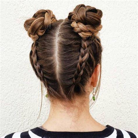 braided space buns adorable x hair hair long hair