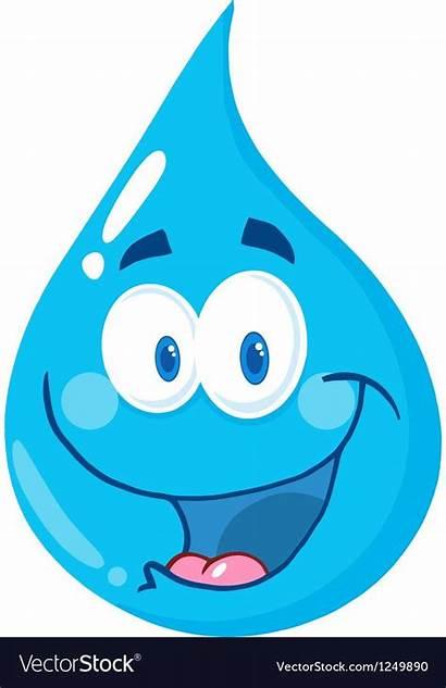 Water Cartoon Drop Character Clipart Droplet Droplets