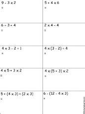 order of operations worksheet 5th grade worksheets for all