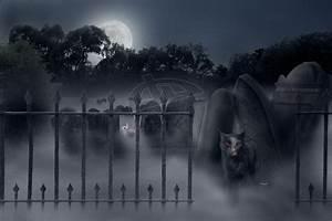 Spooky Graveyard Wallpaper - WallpaperSafari