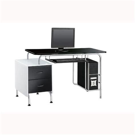 bureau noir laqué meuble de bureau noir laque