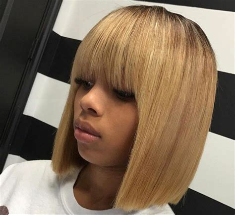 Sew In Weave Bob Hairstyles With Bangs by Vanityjada Hair Make Up Cheveux Courts Cheveux