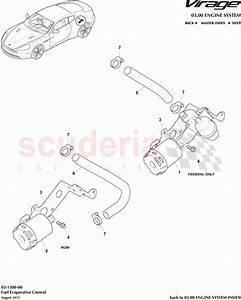 Aston Martin Virage Fuel Evaporative Control Parts
