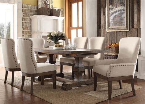 piece landon rustic dining set usa furniture