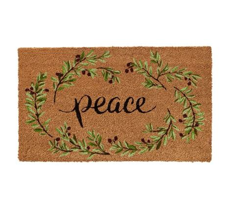 Peace Doormat by Peace Doormat Pottery Barn