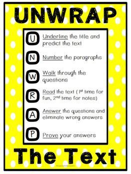 unwrap strategy poster  lesson plans lagniappe tpt