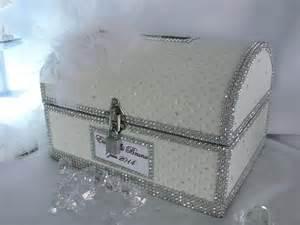 urne mariage urne de mariage coffre pirate deluxe cuir blanc et strass personnalisable boîtes coffrets par