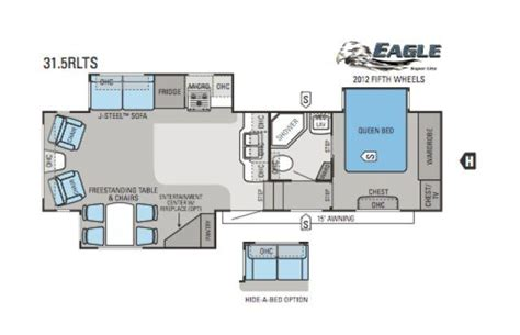2012 Jayco 5th Wheel Floor Plans by 2012 Jayco Eagle Lite 31 5rlts Fifth Wheel Prescott