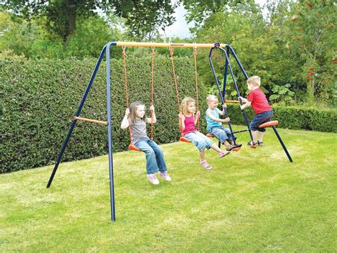 Children Swing by Childrens Robust Metal Outdoor Garden Swing