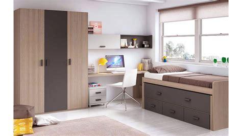 lit gigogne avec bureau chambre enfant garcon avec lit surélevé bureau