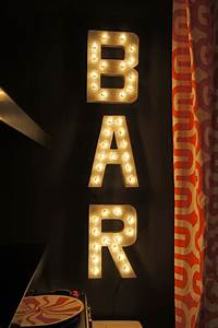 wildloungeafter4 school of decorating With bar letters with lights