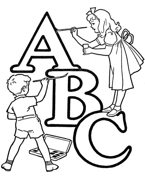 printable abc coloring pages  kids
