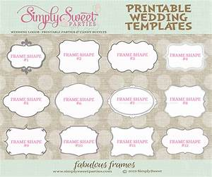 9 best images of printable wedding templates favor free With wedding favors templates free printable