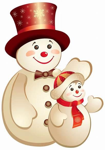 Clipart Snowman Noel Bonhomme Neige Transparent Winter