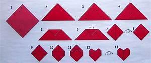 Servietten Selber Drucken Anleitungen : origami faltanleitung f r ein herz schneewittchen s welt ~ Markanthonyermac.com Haus und Dekorationen