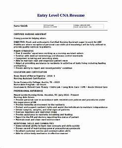 Sample CNA Resume 9 Examples in Word PDF