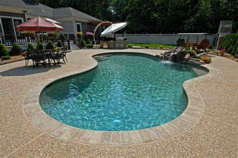 resurface aggregate pool deck exposed aggregate around pools search pools