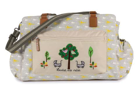 garden birds Pink Lining Wickeltasche Twins Bag