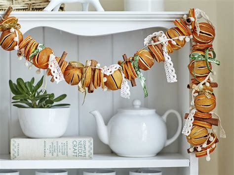 how to make a dried orange christmas garland saga