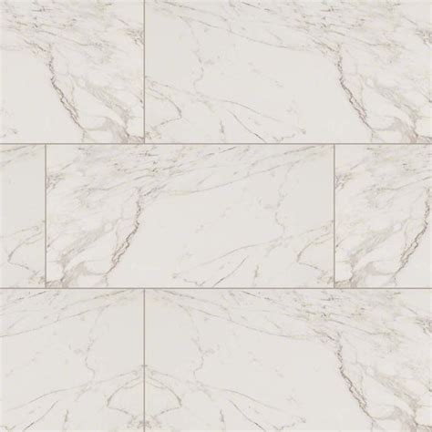 msi pietra series carrara marble look porcelain tile in