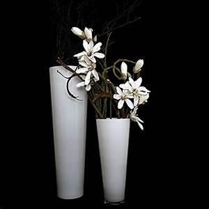 Bodenvase Weiß 70 Cm : glasvase konischer zylinder wei 70cm 22 5cm bodenvase glas gro vasen deko gro modern ~ Frokenaadalensverden.com Haus und Dekorationen
