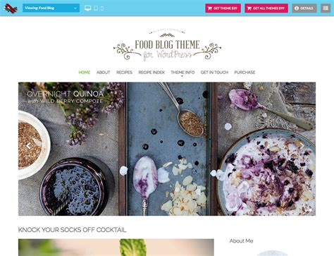 30+ Best Food Wordpress Themes For Sharing Recipes 2018