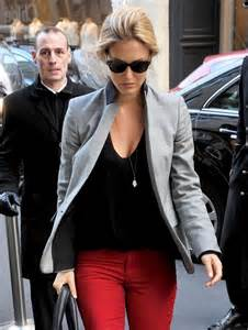 Red and Grey Blazer Pants