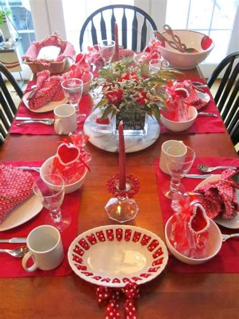 valentines day ideas  creative table decoration